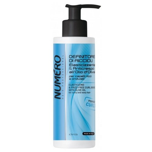 Brelil Professional Numero гель для моделирования вьющихся волос с оливковым маслом Elasticizing Frizz-Free Curl Boost, 200 мл