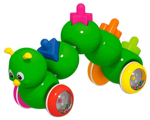 Каталка-игрушка Stellar Гусеничка (01392) со звуковыми эффектами