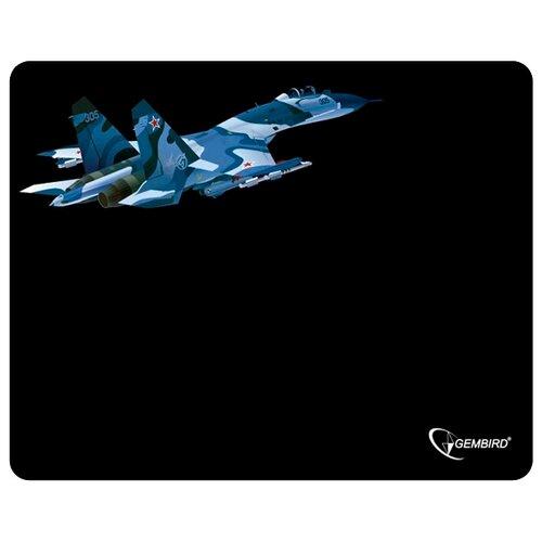 Коврик Gembird MP-GAME8 черный/самолёт