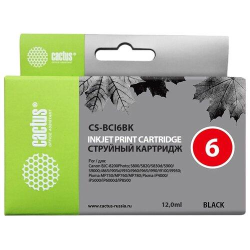 Фото - Картридж cactus CS-BCI6BK, совместимый картридж cactus cs bci6bk совместимый