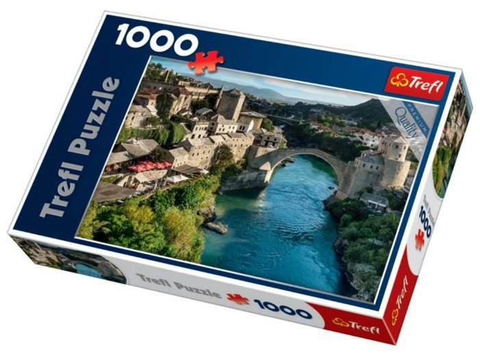 Пазл Trefl Cтарый мост в городе Мостар, Босния и Герцеговина (10383), 1000 дет.