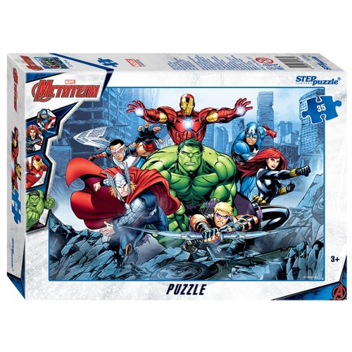 Купить Пазл Step puzzle Marvel Мстители - 3 (91164), 35 дет., Пазлы