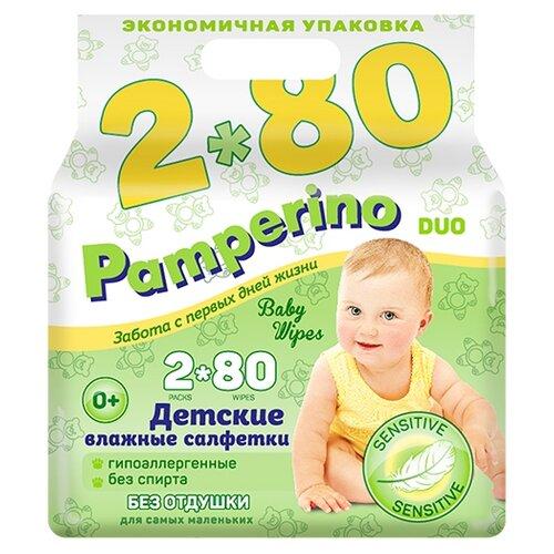Купить Влажные салфетки Pamperino Без отдушки 160 шт.