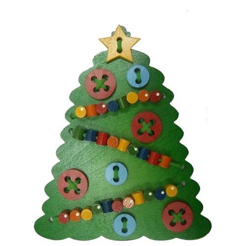 Купить Шнуровка Крона Новогодняя Елочка (193-009) зелeный, Шнуровки
