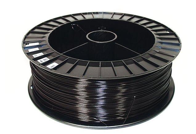 PLA пруток REC 2.85 мм черный 2 кг фото 1