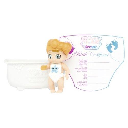 Пупс Zapf Creation Baby Secrets с ванночкой, 6 см, 930-137 zapf creation baby secrets 930 328 бэби секрет набор с садовыми качелями