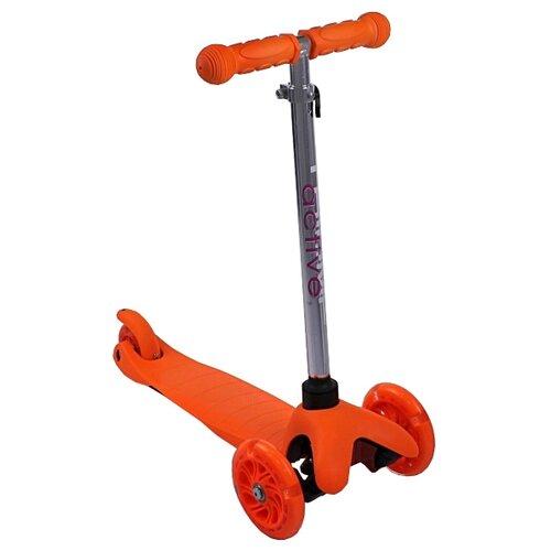 Детский кикборд Triumf Active Mini Up Flash SKL-06AH, оранжевый детский кикборд triumf active mini up flash skl 06ah оранжевый