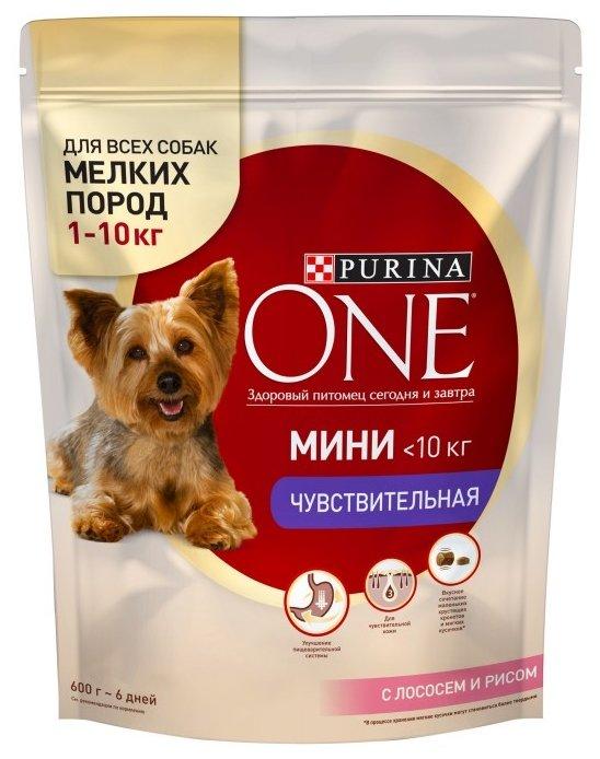 Корм для собак Purina ONE МИНИ Чувствительная Лосось с рисом