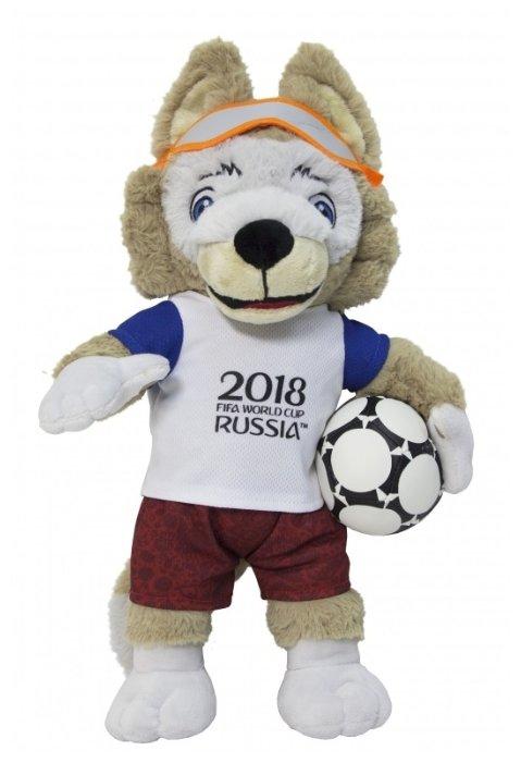 Мягкая игрушка 1toy FIFA-2018 Волк Забивака 40 см Т11252