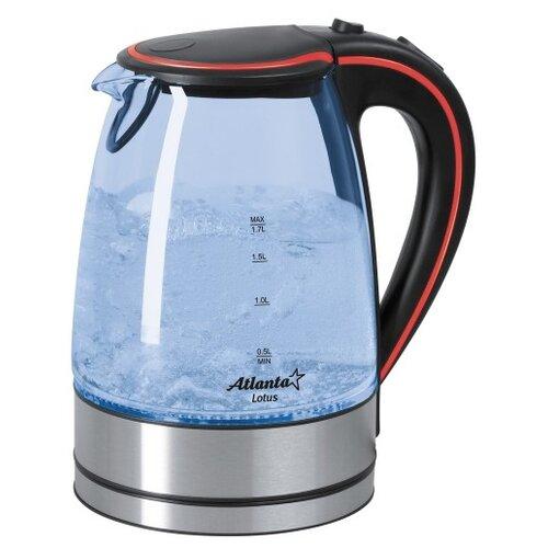 Чайник Atlanta ATH-691, черный/красный чайник atlanta ath 2461 красный