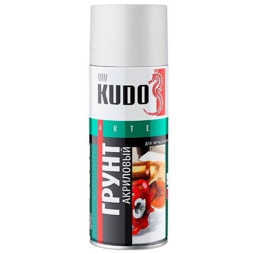 Грунтовка KUDO KU-210x акриловая универсальная для черных и цветных металлов (0.52 л) серый