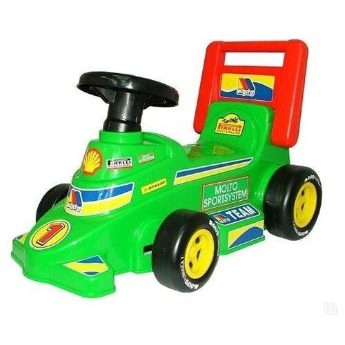 Купить Каталка-толокар Molto Трек №2 (9226) зеленый/черный/красный, Каталки и качалки