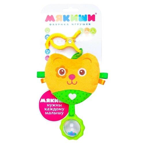 Купить Подвесная игрушка Мякиши Мишка Шу (347) желтый/зеленый, Подвески