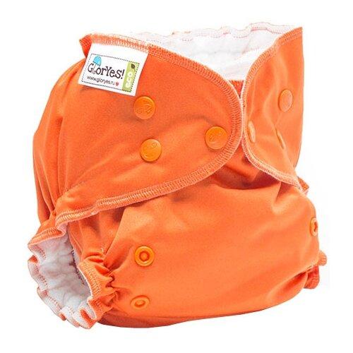 Купить GlorYes! подгузники Classic+ (3-18 кг) 1 шт. апельсин, Подгузники