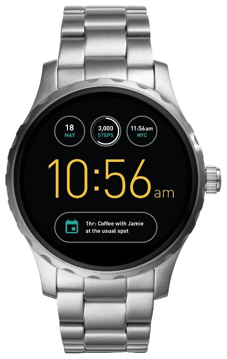 FOSSIL Gen 2 Smartwatch Q Marshal (stainless steel)