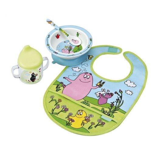Фото - Комплект посуды Petit Jour Paris Barbapapa (BA910C), голубой/зеленый посуда petit jour набор детской посуды barbapapa ba964c