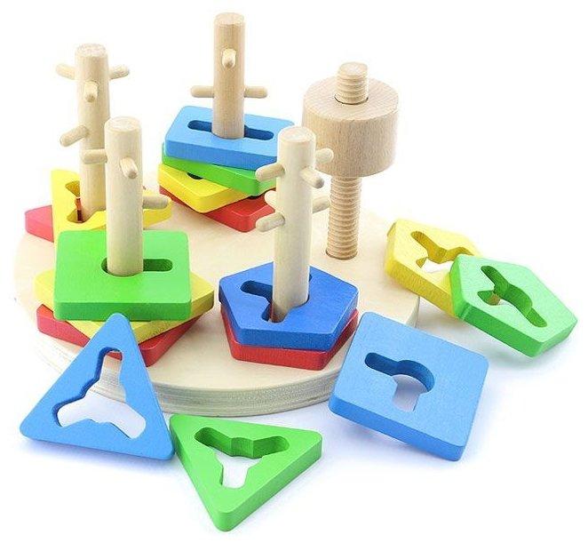 Пирамидка-сортер Мир деревянных игрушек Логический круг