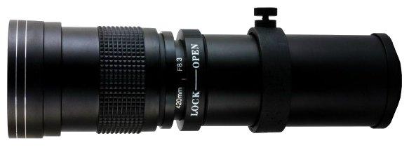 Объектив Opteka 420-800mm f/8.3 Micro 4/3