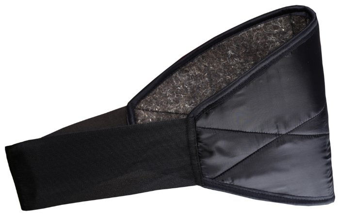 Ортопедическое изделие Azovmed - пояс, собачья шерсть круглый р.44-46 Black
