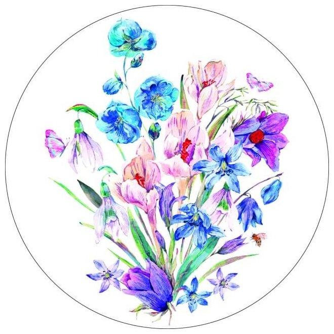 Цветной Вышивка крестом Букет полевых цветов 28 х 28 см (VE11)