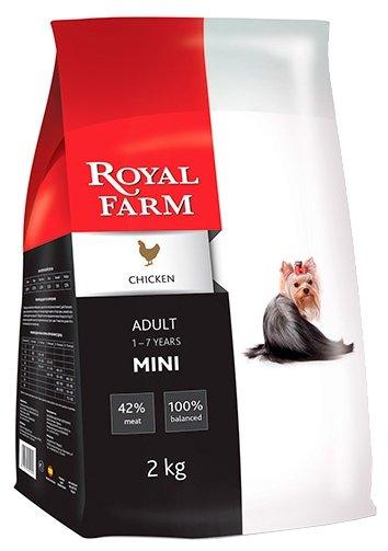Корм для собак Royal Farm Сухой корм для собак Adult Mini Chicken