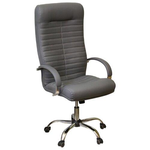 Компьютерное кресло Креслов Орион КВ-07-130112, обивка: искусственная кожа, цвет: серый кресло компьютерное креслов орман кв 08 130112 0453