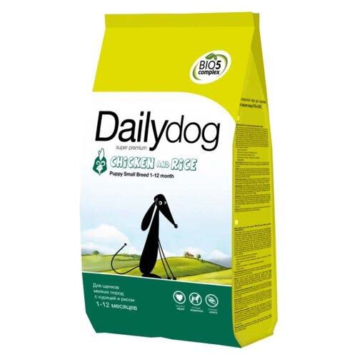Сухой корм для щенков Dailydog курица с рисом 3 кг (для мелких пород) сухой корм для щенков zooring с пробиотиками утка с рисом 20 кг для мелких пород