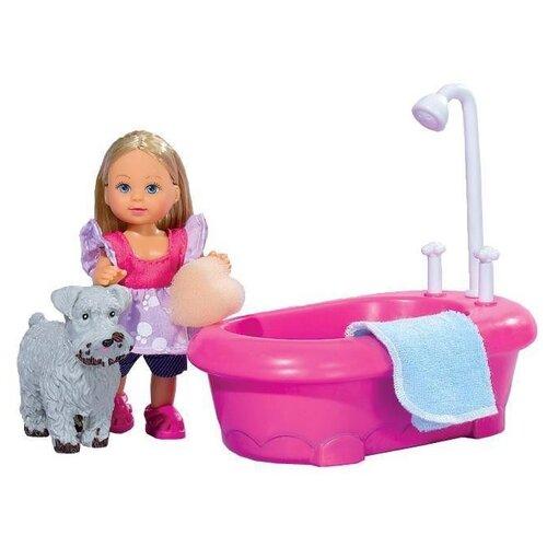 Купить Кукла Simba Еви моет собаку 12 см 5733094, Куклы и пупсы