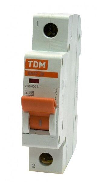 Автоматический выключатель TDM ЕLECTRIC ВА 47-29 1P (C) 4,5kA