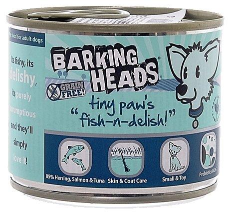 Корм для собак Barking Heads Консервы для собак мелких пород с лососем, тунцом и сельдью Рыбка-вкусняшка