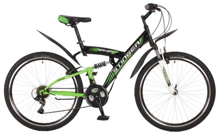 Велосипед 26 горный STINGER Banzai (2017) количество скоростей рама сталь 18 синий
