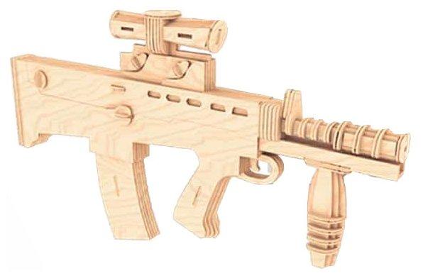 Сборная модель Мир деревянных игрушек Карабин L85А1 (П111),,
