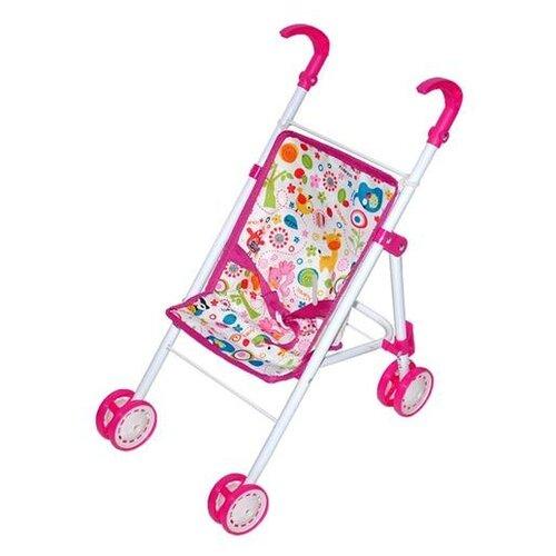 Купить Прогулочная коляска Mary Poppins Фантазия 67325 белый/розовый, Коляски для кукол