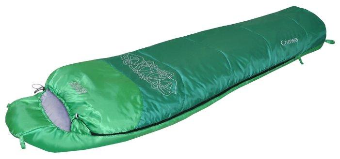Спальный мешок Nova Tour Крым +10 V2 левый, зеленый (95425-314-Left)