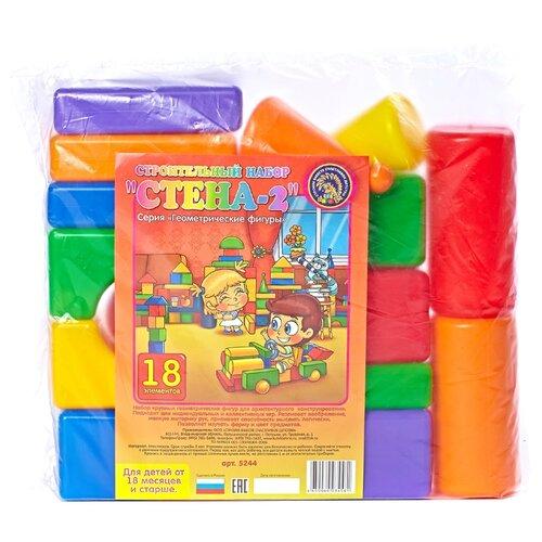 Купить Кубики Строим вместе счастливое детство Стена-2 5244, Детские кубики