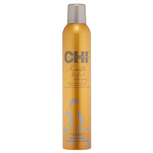 CHI Лак для волос Keratin Flex finish, средняя фиксация, 284 г chi luxury black seed oil curl defining cream gel
