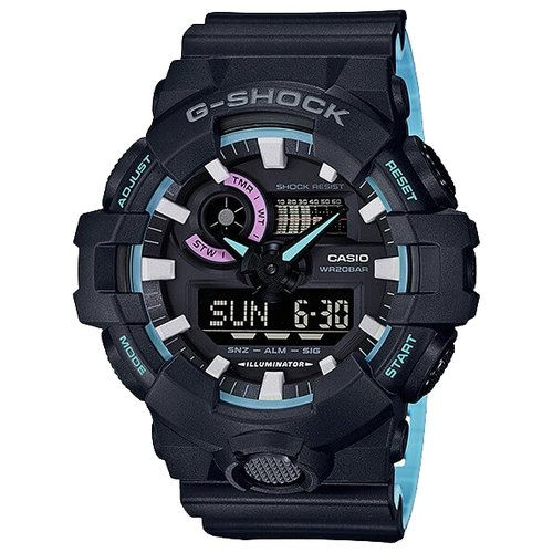 цена Наручные часы CASIO GA-700PC-1A онлайн в 2017 году