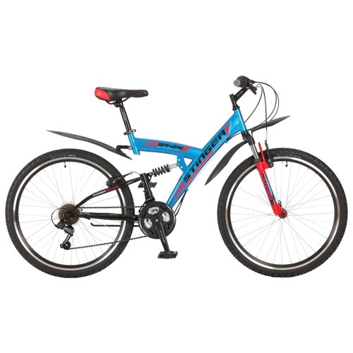 Горный (MTB) велосипед Stinger Banzai 26 (2017) синий 18 (требует финальной сборки) велосипед stinger cruiser l 26 рама 16 5 синий 1 скорость