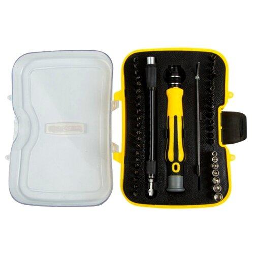 Набор инструментов для точных работ REXANT (45 предм.) 12-4706 желтый/черный набор инструментов для точных работ rexant 37 предм 12 4702 желтый красный