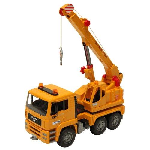 Купить Автокран Bruder MAN (02-754) 1:16 42.5 см жёлтый, Машинки и техника
