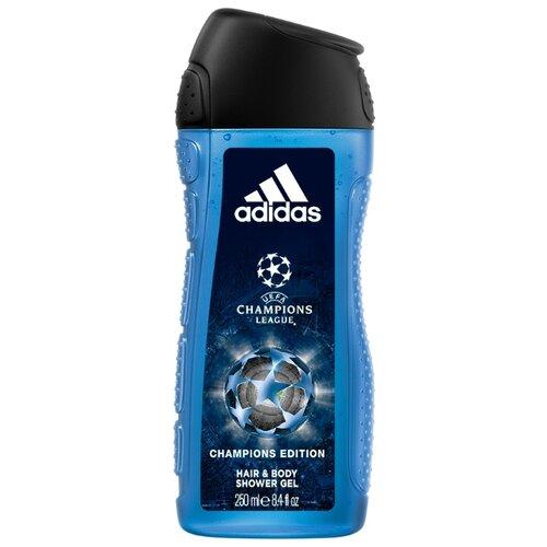 Гель для душа и шампунь Adidas UEFA champions league Champions edition, 250 мл adidas гель для душа шампунь и гель для умывания body hair face after sport мужской 250 мл