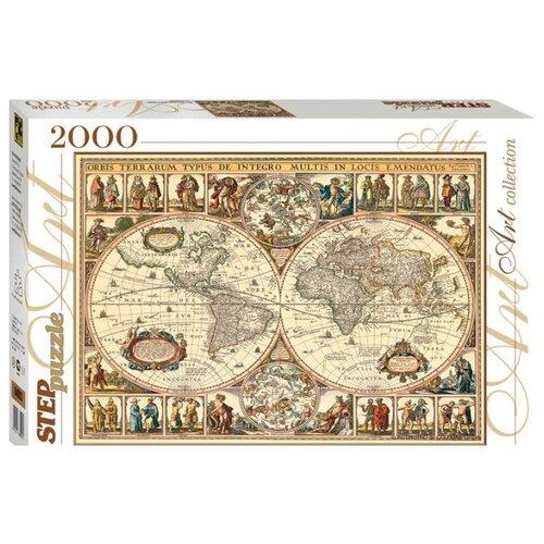 Пазл Step puzzle Историческая карта мира (84003), 2000 дет. пазл step puzzle степ пазл историческая карта пластиковая коллекция 588х378 1000 элементов