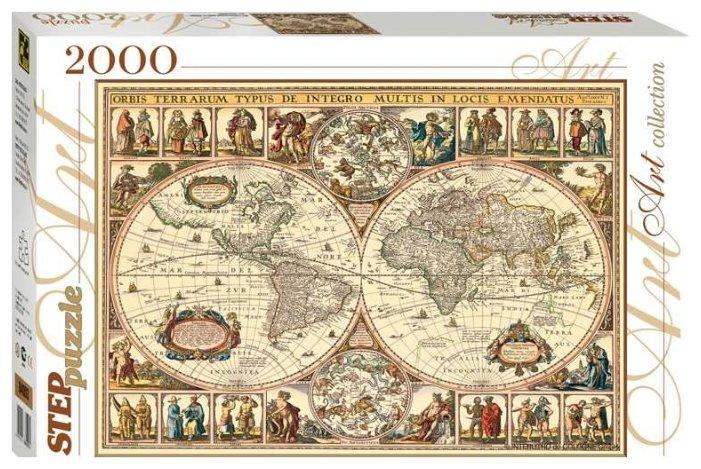 Пазл Step puzzle Историческая карта мира (84003), 2000 дет.