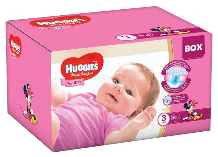 Huggies Ultra Comfort для девочек 3 (5-9 кг)