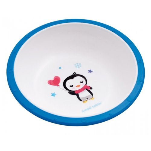 Купить Тарелка Canpol Babies Little cow (4/416) пингвиненок синяя, Посуда
