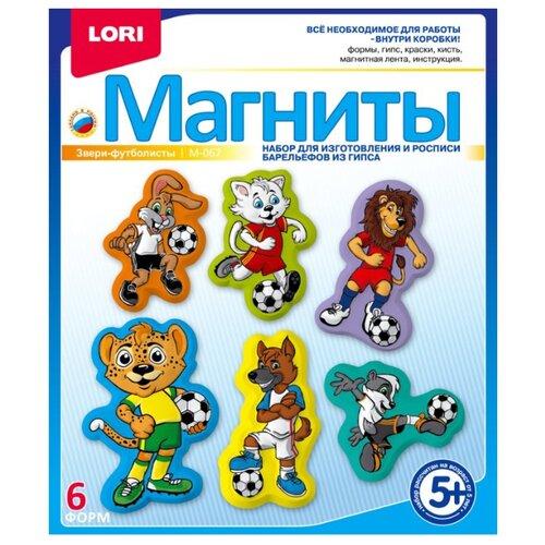 Купить LORI Магниты - Звери-футболисты (М-067), Гипс
