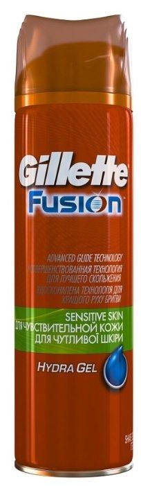 гель для бритья GILLETTE Fusion Hydra Gel Sensitive Skin: для чувствительной кожи, 75 мл