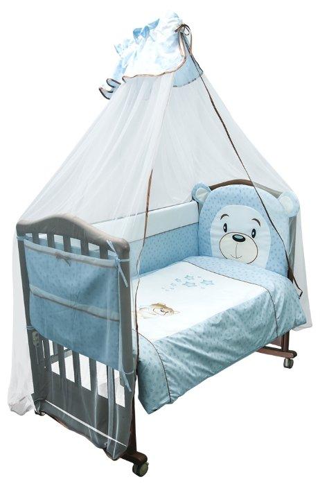 Комплект детского постельного белья с бортиком