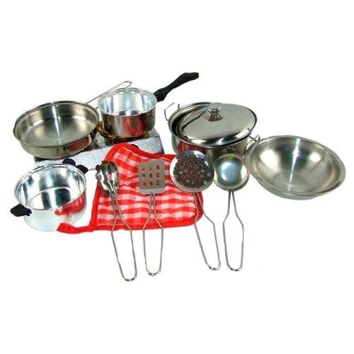 Набор посуды ABtoys Помогаю маме PT-00265 (WK-B0954) серебристый
