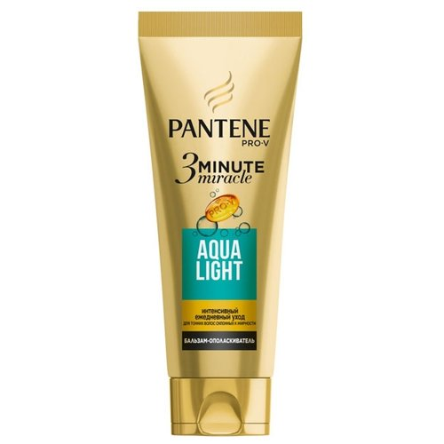 Pantene бальзам-ополаскиватель 3 Minute Miracle Aqua Light для тонких волос, склонных к жирности, 200 млОполаскиватели<br>